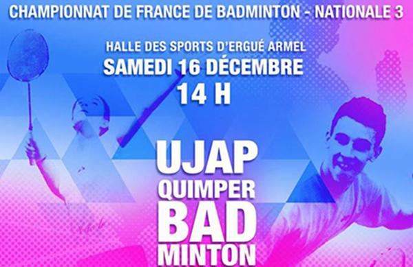 1 salle, 2 rencontres : Quimper Volley 29 et UJAP BADMINTON