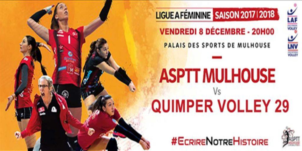ASPTT Mulhouse – Quimper Volley 29 ce soir à 20H