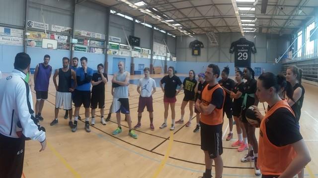 Entraînement avec l'ASEA Basket