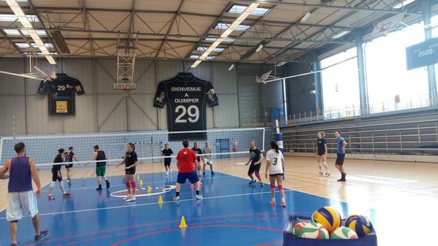 Entrainement de Volley commun avec l'ASEA