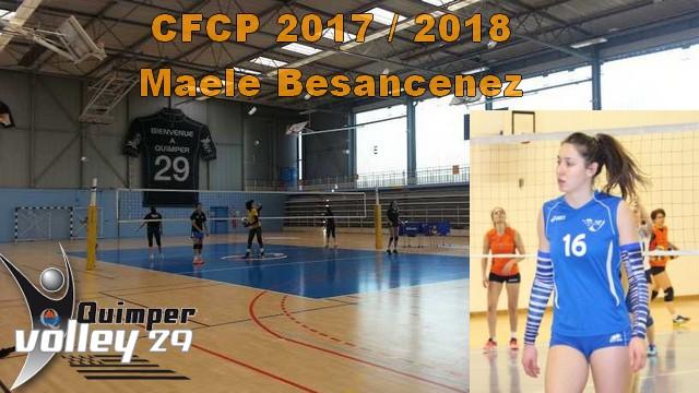 Recrues CFCP 2017-2018 Maele Besancenez, Centrale