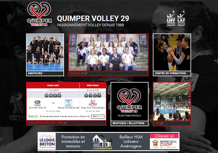 Bienvenue sur le nouveau site du Quimper Volley29