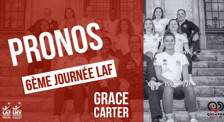 Les pronos de Grace Carter