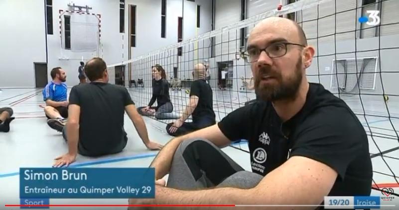 Reportage sur le volley assis – France 3