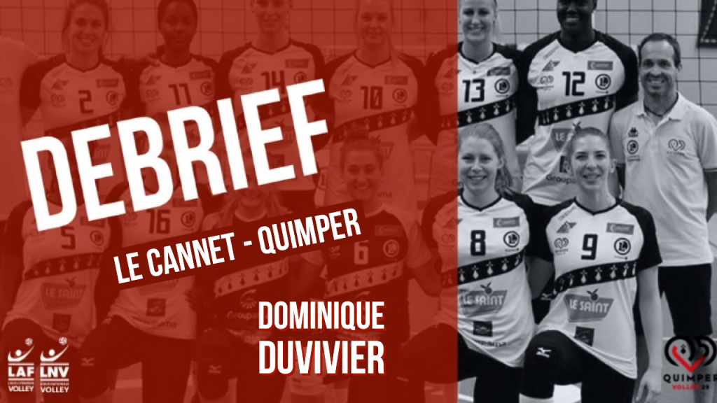 Le debrief Le Cannet – Quimper Volley 29