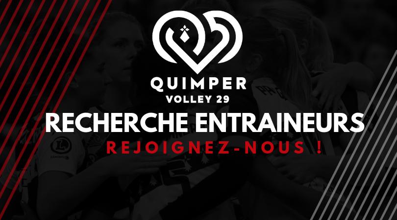 Le Quimper Volley 29 recherche Éducateurs Entraîneurs.