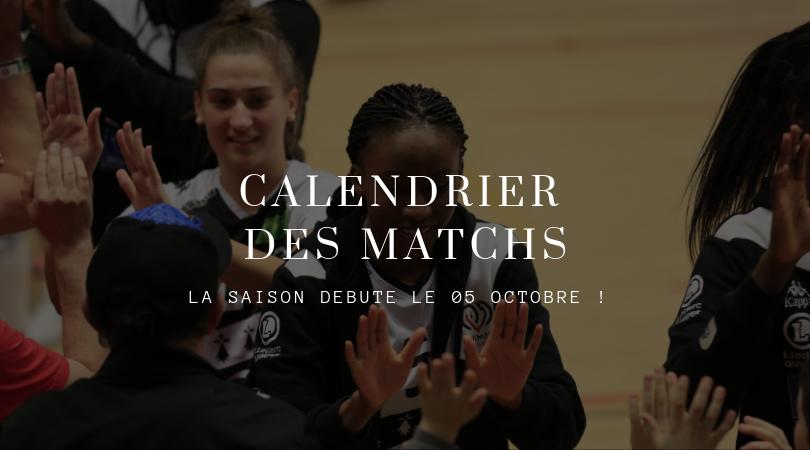 Calendrier Elite Féminine Saison 2019/2020