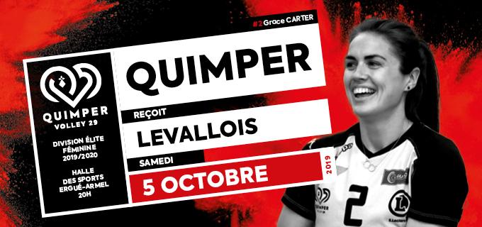 [JOURNÉE 01] Élite féminine : Quimper reçoit Levallois – Samedi 05 octobre