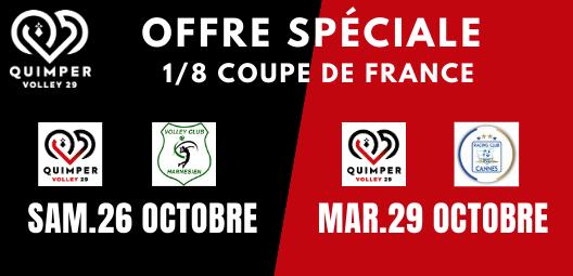 Offre couplée : Quimper – Harnes & Quimper – Cannes