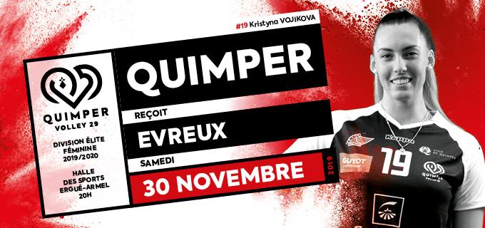 7ème journée de championnat : Quimper reçoit Evreux