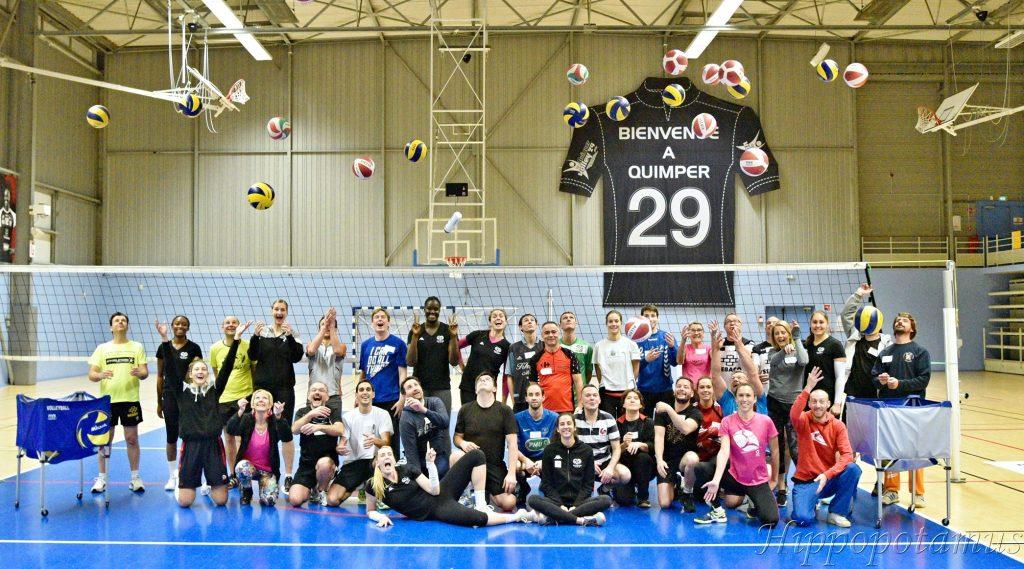 Les partenaires du Quimper Volley à l'entraînement !