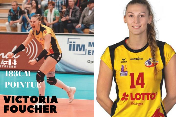 Victoria FOUCHER la nouvelle pointue du Quimper Volley 29