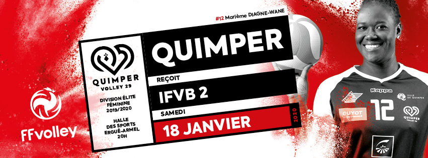 Présentation du match – Journée 11 – Quimper Volley 29 vs IFVB 2
