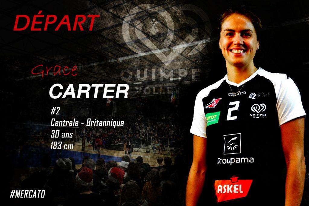 Départ de notre capitaine Grace CARTER