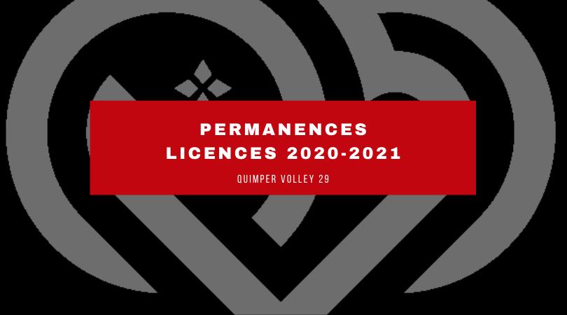 Permanences : Licences 2020/2021