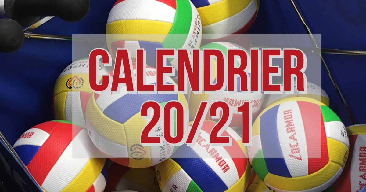 Calendrier équipe Elite   Saison 2020 2021   Quimper Volley 29