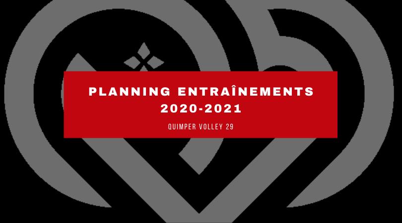 Planning saison 2020/2021 – Quimper Volley