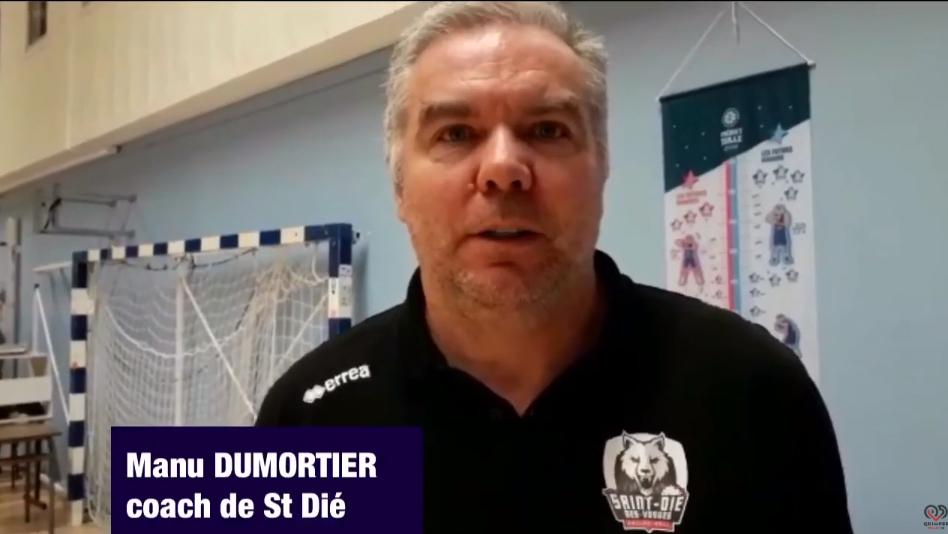 Interview de Manu DUMORTIER coach de St Dié